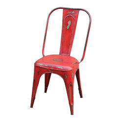 Rockwell Bistro Dining Chair, Dark Red