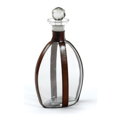 Quogue Decanter - Accentuate your home with the Quogue Decanter. It is artistically designed with top-grain leather and glass material. Its equestrian brown leather strap finish reflects the true aesthetic sense. This is ideal piece of art if you want to decorate your home with hip vintage style. It will shower you lots of appreciation for great sense of selection.