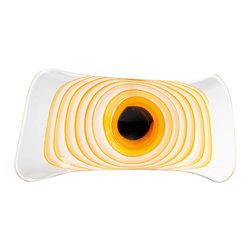"Joshua Marshal - Decorative Orange 16.25"" Iris Bowl - Decorative Orange 16.25"" Iris Bowl"