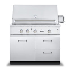 """Viking 42"""" Grill Base Cabinet With 2 Drawers, Stainless Steel 