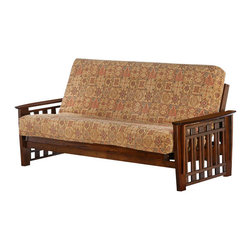 Night & Day Furniture - Night and Day Twilight Futon Frame - No Drawers - The Twilight is the Arts &Crafts of the Premium collection. You can build your living room around it. Our Premium collection wood futon frames are made strong and smart. Built with the finest plantation grown materials and constructed with traditional woodworking good sense, the Twilight is a piece of furniture that will last for years to come.