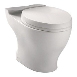 TOTO - Toto CT412F#12 Aquia Dual Flush Elongated Toilet Bowl, Sedona Beige - TOTO CT412F#12 Aquia Dual Flush Elongated Toilet Bowl, Sedona Beige