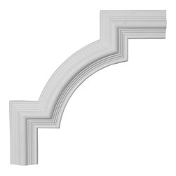 "Ekena Millwork - 15 1/8""W x 15 1/8""H, Bedford Panel Moulding Corner - 15 1/8""W x 15 1/8""H, Bedford Panel Moulding Corner. Our beautiful panel moulding and corners add a decorative, historic, feel to walls, ceilings, and furniture pieces. They are made from a high density urethane which gives each piece the unique details that mimic that of traditional plaster and wood designs, but at a fraction of the weight. This means a simple and easy installation for you. The best part is you can make your own shapes and sizes by simply cutting the moulding piece down to size, and then butting them up to the decorative corners. These are also commonly used for an inexpensive wainscot look."