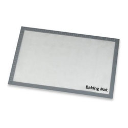 Real Simple - Real Simple Silicone Baking Mat - This double-sided silicone baking mat is food safe and assures a firm grip to the countertop. It dissipates heat rapidly to prevent burning of your cookies and pastries, and is great for gas ovens, electric ovens, microwaves and even toasters.