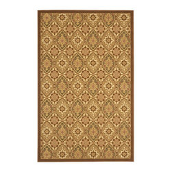 Safavieh - Safavieh Treasures Rug with Brown / Creme X-5-1152-712ERT - The Treasures collections offers the traditional rug designs with a wonderful color pallete that is very pleasing to the eyes.