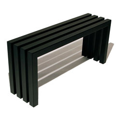 "Sarabi Studio - Linear Bench Industry Black, 40"" Length - The Industry Black Linear Bench is welded together from durable thick-wall steel tubing and then finished with an industrial powder coating for durability & outdoor protection."