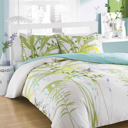 City Scene - City Scene Mixed Floral 3-Piece Duvet Cover Set - Update your bedding with this lovely mixed floral duvet cover set from City Scene. The set includes a unique floral-patterned duvet and pillow shams to complete the look.