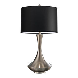Artiva - Artiva USA Aladdin Modern 30-inch Brushed Steel Compact Fluorescent Table Lamp w - Light up any room with this contemporary table lamp that features a sleek and modern brushed steel finish. This lamp makes a great addition to any home or office,regardless of the current state of decor.