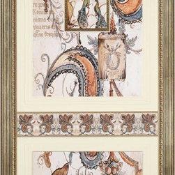 Paragon Decor - Pretty as a Peacock Artwork - Mixed Media Collage