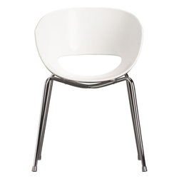 Orbit Arm Chair | CB2 - I really like the simple, sleek look of this arm chair by West Elm. Not only does it look good, but its spacious design and well structured back support making working long hours a breeze.