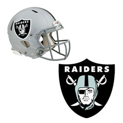 Brewster Home Fashions - NFL Oakland Raiders Wall Graphics 4pc Teammate Sticker Set - FEATURES:
