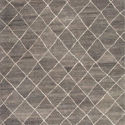 Jaipur Rugs - Hand-Tufted Durable Wool Gray/Ivory Area Rug (2 x 3) - Influenced by Moroccan motifs and texture, the Riad Collection adds a sense of culture to your home. Thick pile evokes a sense of warmth and comfort.