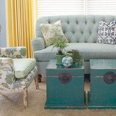 Contemporary Living Room by Tran + Thomas Design Studio