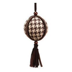 Silk Plants Direct - Silk Plants Direct Hounds tooth and Velvet Ball Ornament (Pack of 12) - Pack of 12. Silk Plants Direct specializes in manufacturing, design and supply of the most life-like, premium quality artificial plants, trees, flowers, arrangements, topiaries and containers for home, office and commercial use. Our Hounds tooth and Velvet Ball Ornament includes the following: