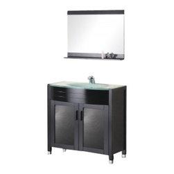 "Design Element - Design Element DEC018 Waterfall 36"" Single Sink Vanity Set in Espresso - Design Element DEC018 Waterfall 36"" Single Sink Vanity Set in Espresso"
