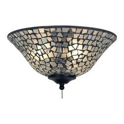 """Fanimation - Fanimation 13"""" Glass Bowl, Mosaic, Clear/Frosted - G422 - Clear Frosted Mosaic Finish"""