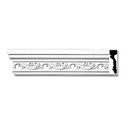 """Renovators Supply - Crown Moldings White Urethane Ornate Savannah Crown Molding 