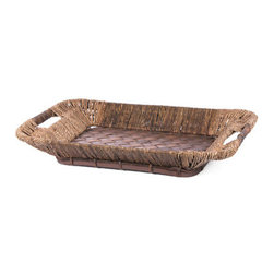 Willow & Seagrass Rectangular Serving Tray - FREE SHIPPING !!!!!