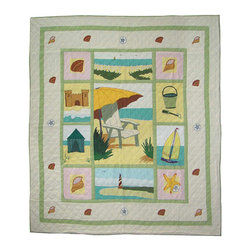 Patch Quilts - Ocean View Quilt King 105 x 95 - - Intricately appliqued and beautifully hand quilted.Bedding ensemble from Patch Magic  - The Name for the finest quality quilts and accessories  - Machine washable.Line or Flat dry only Patch Quilts - QKOCVW