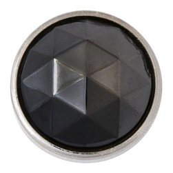 Black Diamond in Silver Setting, Upholstery Tack, 20mm - Ebony gemstones that glitter like stars in a wide open night sky, our Black Diamond heads bestow dramatic flair to any furnishing.