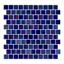 Susan Jablon Mosaics - Cobalt Blue Iridescent Recycled Glass Tile - Cobalt blue iridescent glass tile. 100% recycled glass tile. Perfect for interior or exterior installation. Eco-friendly never looked so good! Certified by the U.S. Green Building Council for L.E.E.D. Projects, the beauty of these recycled glass tiles prove you don't need to sacrifice to be sustainable. They are suitable for a wide range of uses, indoors and outdoors, in dry or wet locations. A custom mosaic design using these tiles can make a gorgeous, responsible, design statement in your pool, kitchen bathroom, dining room – anywhere! It is very easy to install as it comes by the square foot on mesh and it is very easy to clean! About a decade ago, Susan Jablon re-ignited her life-long passion for mosaics and has built a customer-focused, artist-driven, business offering you the very best in glass and decorative tiles and mosaics. We are a glass tile store committed to excellence both personally and professionally. With lines of 100% SCS Qualified recycled tile, 12 colors and 6 shapes of mirror, semi precious turquoise stones from Arizona mines, to color changing dichroic glass. Stainless steel tiles in 8mm and 4mm and 12 designs within each, and anything you can dream of. Please note that the images shown are actual photographs of the tiles however, colors may vary due to the calibration of each individual monitor. Ordering samples of the tiles to verify color is strongly recommended.