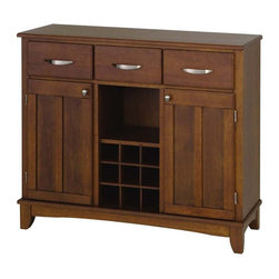 Home Styles - Home Styles Furniture Wood Top Buffet in Cherry - Home Styles - Buffet Tables & Sideboards - 51000072