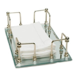 Organize It All - Organize It All 19092W-1 Mirrored Guest Towel Tray Multicolor - 19092W-1 - Shop for Bath Accessories from Hayneedle.com! This Organize It All 19092W-1 Mirrored Guest Towel Tray adds a touch of uptown elegance to your bathroom. Made of glass it features a mirrored base and has enough room to store a number of towels. Its protective feet protect surfaces from scratches while keeping towels elevated and dry. It's also topped with gold-finished iron rods.About Organize It All With masterful designs using top-quality materials Organize It All is dedicated to providing convenient and stylish storage solutions for every room in your home believing that a well-organized environment is more enjoyable.