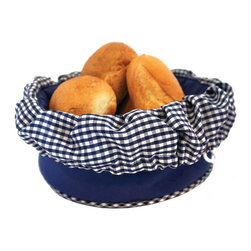 Camerons Products - Bun Warmer Basket - Blue - Keeps breads and rolls hot and moist for up to one hourl! Place rolls directly into warmer after being in the oven or heat in the microwave.