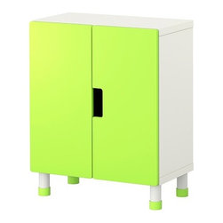 Ebba Strandmark - STUVA Storage combination with doors - Storage combination with doors, white, green