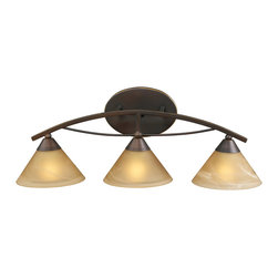 ELK Lighting - ELK Lighting 7642/3 Elysburg 3 Light Bathroom Vanity Lights in Aged Bronze - This 3 light Vanity from the Elysburg collection by ELK will enhance your home with a perfect mix of form and function. The features include a Aged Bronze finish applied by experts. This item qualifies for free shipping!