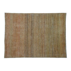 5'X6' Oriental Rug, Hand Knotted Striped Gabbeh Peshawar Natural Dyes Rug SH7550 - Our Modern & Contemporary Rug Collections are directly imported out of India & China.  The designs range from, solid, striped, geometric, modern, and abstract.  The color schemes range from very soft to very vibrant.