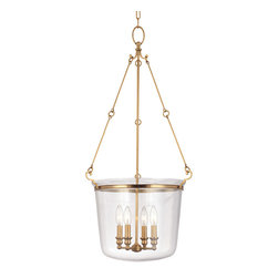 Hudson Valley Lighting - Hudson Valley Lighting 134-AGB Quinton 4 Light Pendants in Aged Brass - This 4 light Pendant from the Quinton collection by Hudson Valley Lighting will enhance your home with a perfect mix of form and function. The features include a Aged Brass finish applied by experts. This item qualifies for free shipping!
