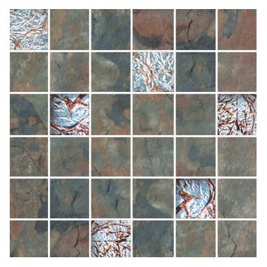 Raja Collection Kund Multi Mosaic with Glass - Raja replicates the exotic slate found in India thanks to the most advanced inkjet technology.