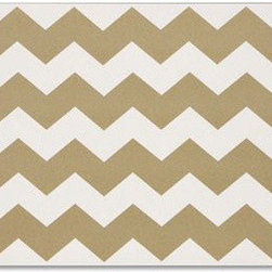 Gold Chevron Paper Placemats - Jazz up your dinner parties with these gorgeous gold chevron placemats.
