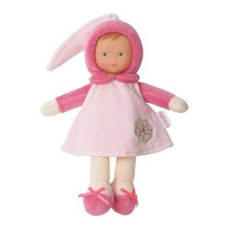 Corolle Barbicorolle Miss Pink Cotton Flower 9.5 in. Doll - From her light pink velour cap to her ribboned shoes, the Corolle Barbicorolle Miss Pink Cotton Flower 9.5 in. Doll is a cutie. She's sweet-smelling, huggably soft, and designed specifically for newborns. This dolly is made feather-light and has a super-soft plush body with sewn-on light pink velour outfit and darker pink accents. Her face has a sweet expression and is made of premium vinyl. This doll is conveniently machine-washable, has a delicate vanilla scent, and won a Platinum Seal Award from the Oppenheim Toy Portfolio.About CorolleCorolle is a premier doll brand designed in the storybook region of France's Loire Valley. Since 1979, Corolle has been creating highly detailed dolls designed to be cherished by children everywhere. Every Corolle doll will inspire magical childhood memories that will last for a lifetime. Corolle dolls look and feel as real as possible. They're created of soft, supple vinyl, have natural-looking hair, and wear on-trend fashions. Corolle dolls are designed durable enough to withstand years of hugs and love. Perfect heirloom treasures! Doll play encourages children to explore different roles from caring for and sharing hopes and dreams to finding an understanding playmate and friend for life. Corolle designs dolls for children of all ages.There is a range of Corolle dolls designed for specific ages. Babi Corolle is a soft-body doll perfect for newborn babies and older. It's machine-washable, feather-light, and made to be loved. Mon Premier Corolle is designed for babies 18 months and older. This line includes a range of baby dolls, clothing, and accessories. The dolls are lightweight and soft. The clothing has Velcro closures so it's easy to put on and take off. Mon Classique Corolle is a classic baby doll designed for toddlers to love and nurture. This line has a complete assortment of larger baby dolls, clothing, and nursery accessories. Some even have hair that can be bru