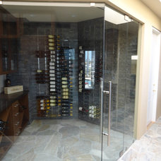 Contemporary Wine Cellar by Vintage Cellars