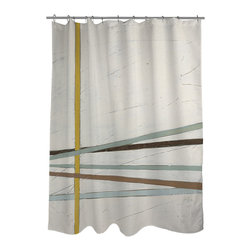 None - Thumbprintz Tangle I Shower Curtain - An urban theme and earth tones are the hallmarks of this lovely shower curtain featuring the artwork of June Erica Vess. Made from reliable polyester,this curtain can be cleaned in your washing machine.