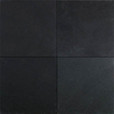 Contemporary Floor Tiles black slate tile