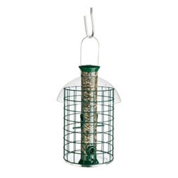 Droll Yankees - Sunflower Domed Cage - Sunflower Domed Cage. Extended top-makes refilling easy. Spring clamp-keeps dome in place and removes for cleaning. Sheltering dome-protects against Weather Stainless Steel wire-long lasting and chew-proof Droll Yankees tubular feeder.