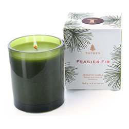 Thymes Frasier Fir Candle - Just in time for the Winter Solstice and the Christmas holidays, Thymes Frasier Fir scented candle is the perfect addition to any seasonal celebrations. Frasier Fir sets the mood with a fresh cut forest fragrance of Siberian Fir and notes of citrus, sandalwood, and cedar that merge to delight the senses. The season isn't complete without the rich, cozy, mountain fresh scent of Frasier Fir.
