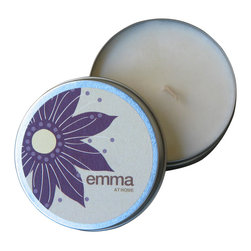 Emma at Home - Oahu (Plumeria) Candle - Nothing will take you back to Hawaii like the sweet smell of Plumeria. It really is a magical scent. And candles in reusable metal tins are perfect for traveling. Just toss them in your bag and you'll have a little comfort from home in any hotel room.