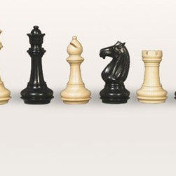 Meghdoot Staunton Ebony Chess Pieces - The utmost in elegance in classic black and white. The Meghdoot Staunton Ebony Chess Pieces will make a lasting impression with their imposing weight and detailed carving. From the exquisite contours of the queen's crown to the sharp and imposing lines of the knight's mane these pieces will help make sure the classic game of chess remains a tradition in your family that ties generations together. Each of these chess pieces is meticulously carved from ebony wood to reveal the finest details. They feature leather pads beneath each piece to ensure the protection of your chess board. Triple-weighted pieces offer a satisfying feel to enhance every match. The Meghdoot Staunton Ebony Chess Pieces are some of the most finely crafted and elegant hardwood chess pieces available. Place your order today for an heirloom set of chess pieces that your family will treasure.