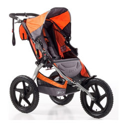B.O.B. - B.O.B. Sport Utility Single Stroller - Orange Multicolor - ST1002 - Shop for Carriages and Strollers from Hayneedle.com! In the spring a runner's fancy lightly turns to thoughts of . . . getting away from the treadmill and with the B.O.B. Sport Utility Single Stroller - Orange you can do just that. Don't bother getting someone to watch your child for you; with the smooth and comfortable ride of this sport utility stroller your little one will be as anxious as you are to get out and enjoy the warm weather and fresh air. B.O.B. has designed this stroller to provide both you and your child with a comfortable ride whether on or off the road. The fixed front wheel keeps the stroller's forward motion steady so that not even slight play will slow you down. Coil spring and elastomer core shock absorbers provide three inches of wheel travel and the adjustable release knobs ensure that your stroller will have just the right suspension you need as your child grows. When spring's thaw turns into summer's sunny heat wave the adjustable canopy will keep your little one shielded from the elements so you still won't have to worry about their comfort or safety while you're out on the trail. When you're craving a new trail or want to hook up with a friend to have some company on your run the stroller's easy two-step folding and lightweight frame make storage and transport a cinch. Why feel boxed in when you could instead expand your exercise horizons getting yourself and your child out into fresh air and natural surroundings. Additional features: Fixed front wheel for increased stability State-of-the-art adjustable suspension system Easy two-step folding Ultra-padded adjustable reclining seat Adjustable canopy with viewing window Padded handlebar High-impact polymer composite wheels are extra tough Knobby tires offer added traction to keep you moving 1 Low Boy Cargo Basket 1 large seatback pocket Internal seat pockets Parking brake hand brake Tracking knob to keep stroller r