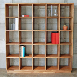 MASHstudios | LAXseries 5 x 5 Bookcase - Bookcase Bliss. Browse titles easily on this clean, compartmentalized bookshelf. Your literary collection speaks loudly; your furniture shouldn't.