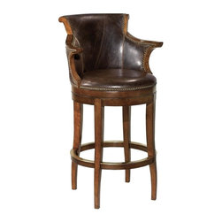 EuroLux Home - New Swivel Bar Stool Solid Hardwood Waxed - Product Details
