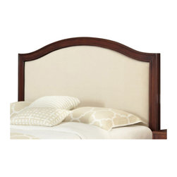 Home Styles - Home Styles Duet Camelback Headboard with Oyster Microfiber Inset-Queen - Full - Home Styles - Headboards - 5545501D - Create distinctive style with this modern Duet Headboard.