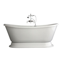 Baths of Distinction - Hotel Collection Bateau Double Slipper Pedestal Bathtub/Faucet Package - Product Details: