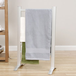 Royal - Royal Elegance Towel Warmer Drying Rack - This towel warmer drying rack is perfect for keeping towels warm and dry in the bathroom. The drying rack features an on/off switch and can be used freestanding or wall mounted.  This comforting rack boasts a beautiful brushed chrome color.