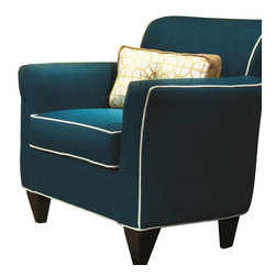 Chelsea Home Furniture - Chelsea Home Yvette Accent Chair in Lindy Cayman - Yvette Accent Chair in Lindy Cayman belongs to the Chelsea Home Furniture collection