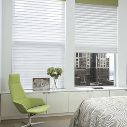 Smith and Noble Sheer Shadings - Designed with all the elegance of fine sheers and the practical function of classic blinds, these innovative shades give you the best of both worlds. Starting $299+